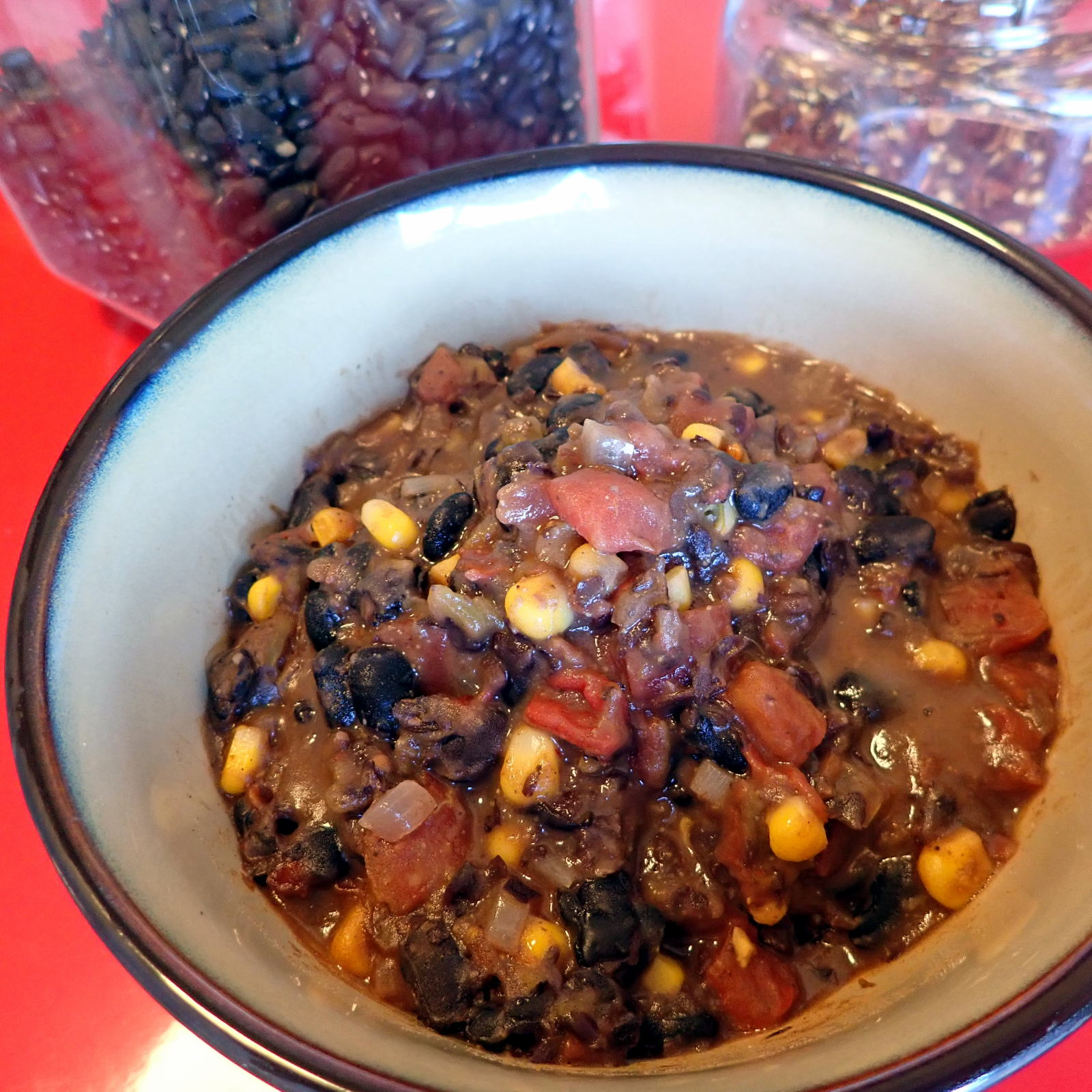Black bean and corn chili