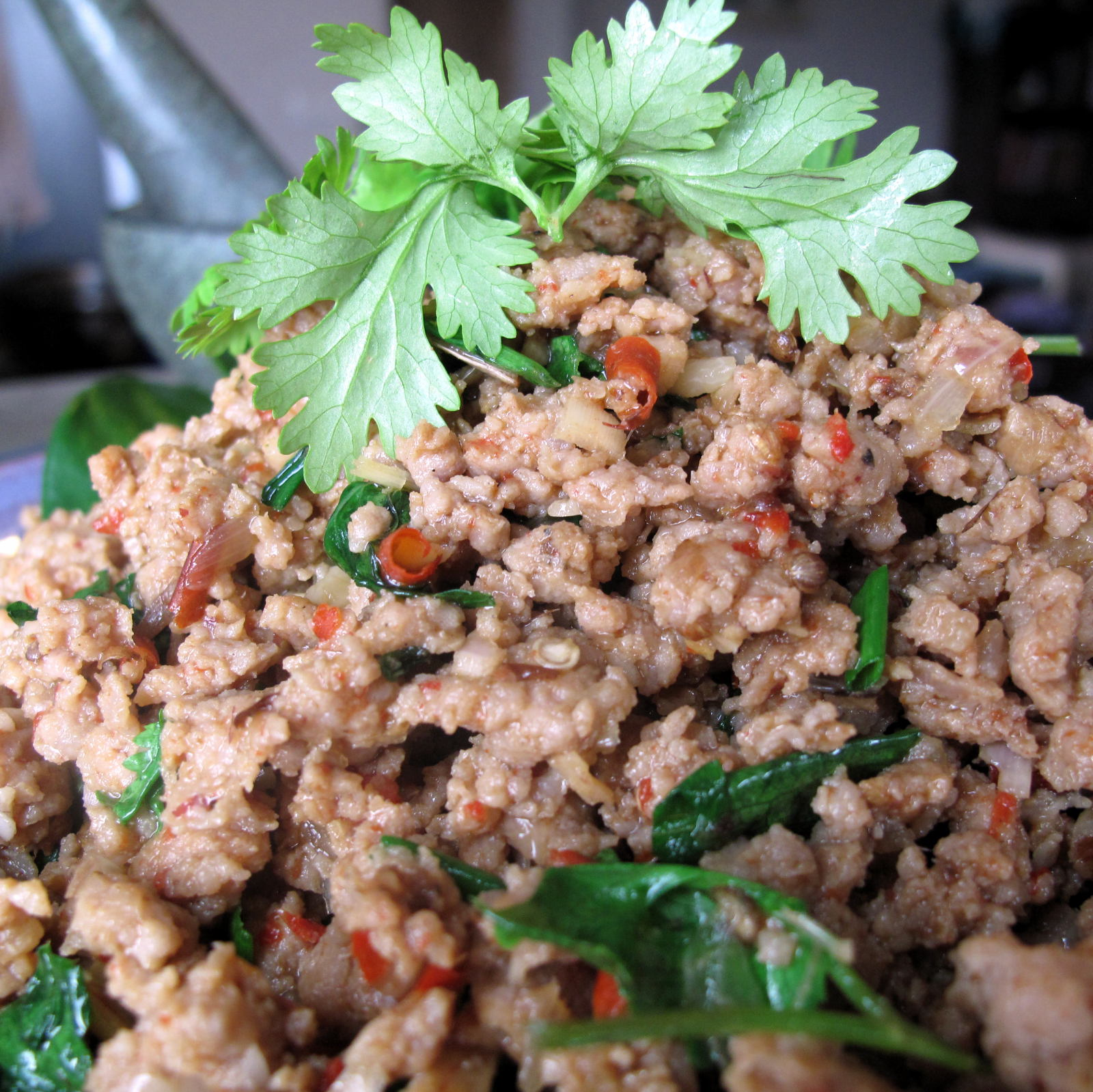 Northern Thai Style Pork Salad