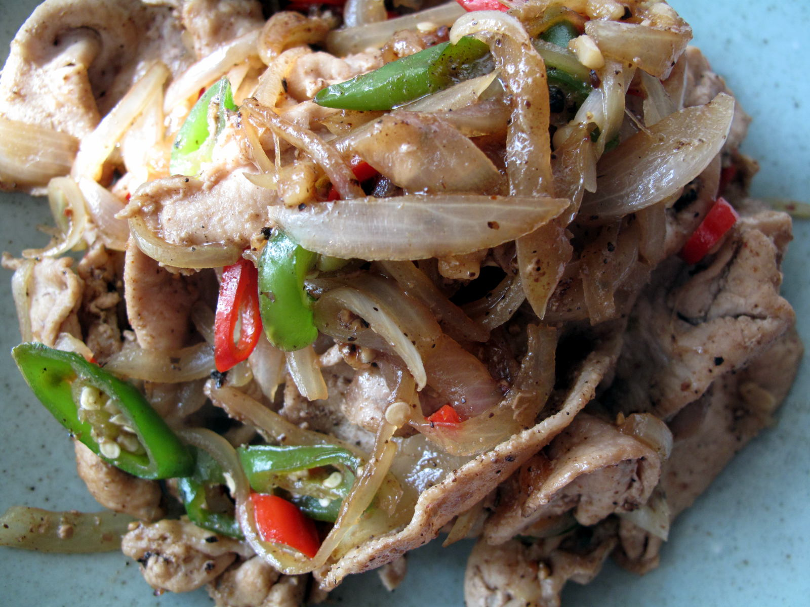 Stir-fried Pork with Chili